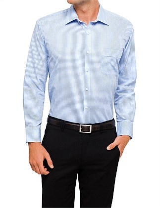 CLASSIC FIT SMALL GRID CHECK SHIRT