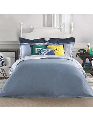 CHAMBRAY QUILT COVER SET QUEEN