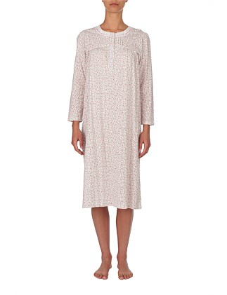 Nina Midlength Long Sleeve Nightie