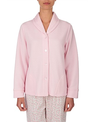 Geo Diamond Button up Bed jacket