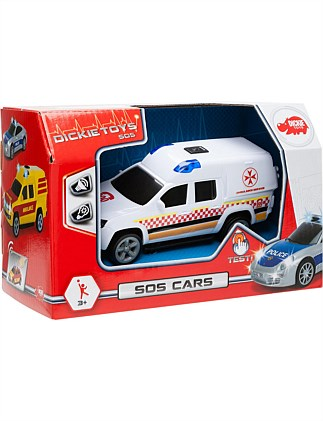 DICKIE LIGHT & SOUND SOS CARS ASSORTED (AUS DESIGN)
