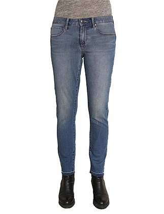 Mid Lisa Skinny Ankle Jean With Release Hem