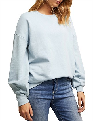 Balloon Sleeve Sweat Shirt