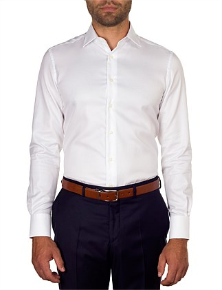 HERRINGBONE SLIM FIT SHIRT