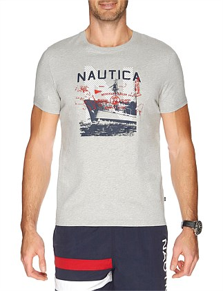 Short Sleeve Nautica Sailor Ship Tee