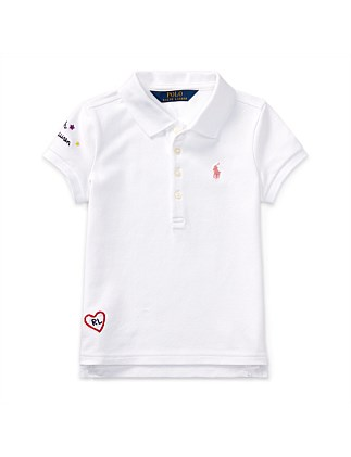 Embroidered Cotton Pique Polo(2-7 years)