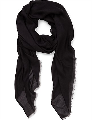 SOLID CASHMERE BLEND SCARF