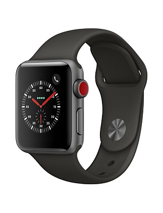 APPLE WATCH S3 GPS+CELL 38MM SPACE GRY  W GRY SPT MR2Y2X/A