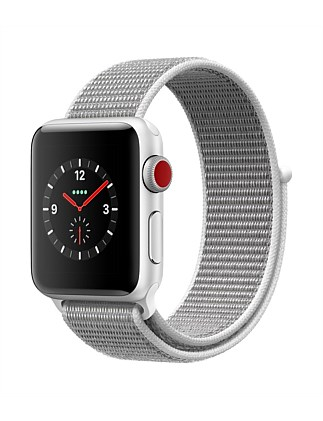 APPLE WATCH S3 GPS+CELL 38MM SILVER  W SS SPORT MQKJ2X/A
