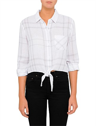 VAL -  WHITE COIN PLAID
