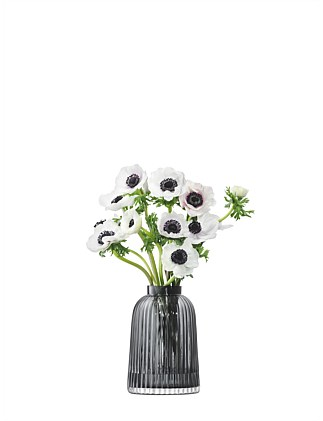 Pleat Vase Grey 20cm