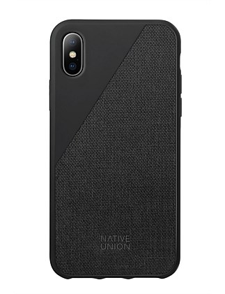 NATIVE UNION CLIC CANVAS FOR IPHONE X - BLACK