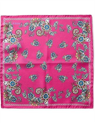 PAISLEY BORDER PRINT POCKET SQUARE