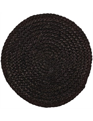 Bordered Jute Black Placemat
