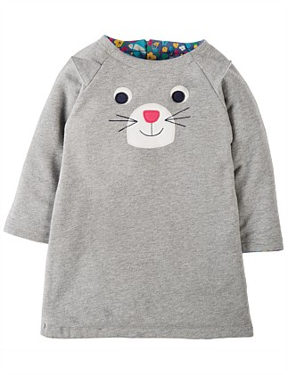 Cat Peek A Boo Reversible Dress (0-24months)