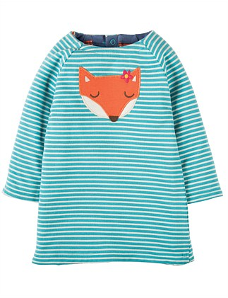 Fox Peek A Boo Reversible Dress (0-24months)