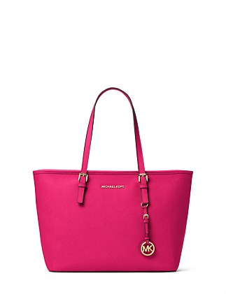 Jet Set Travel Saffiano Top-Zip Tote