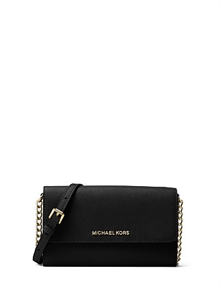 2875e4b9893680 Jet Set Travel Saffiano Leather Smartphone Crossbody. Michael Kors