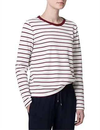 Cotton Textured Stripe T-Shirt