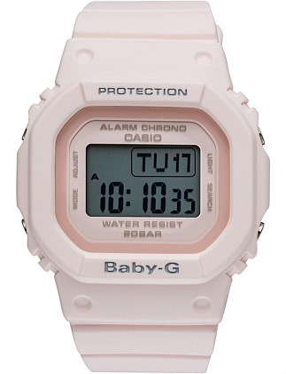 BABY G SQUARE DIGITAL W/TIME, ALARM