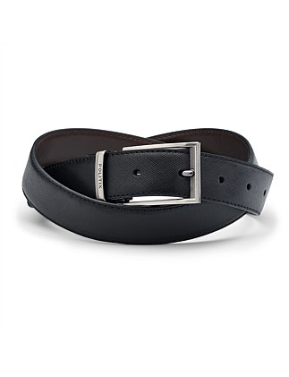 Manuell Reversible Leather Pin Buckle Belt