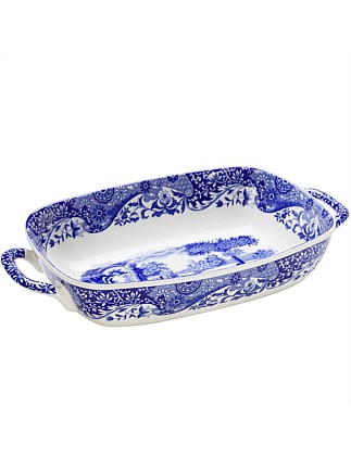 Blue Italian Handled Serve Dish