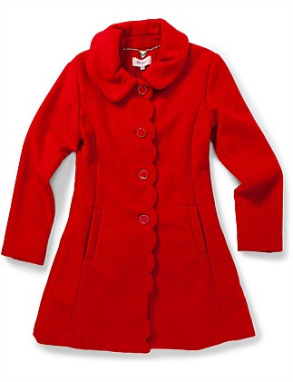 Scallop Front Coat Girls (8-14 Years)