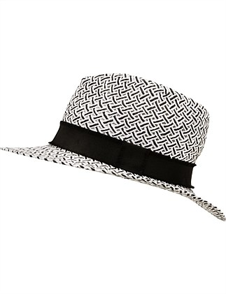 TWISTED PAPER MONOCHROME FEDORA