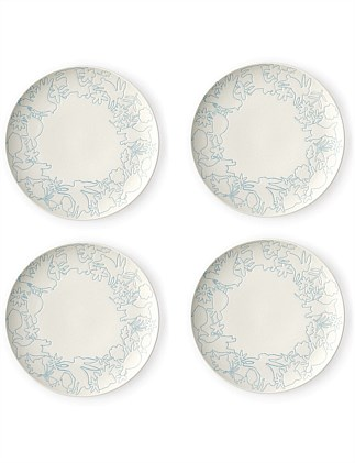 ED Polar Blue Accent Plate 21cm Set of 4