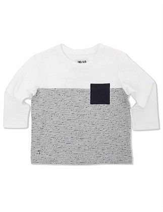 Dash Print Ls Tee (Boys 0-2 Years)