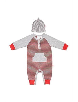 Out of Africa Studsuit & Beanie (Newborn-1year)