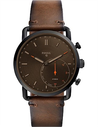 Q Commuter Brown Hybrid Smartwatch