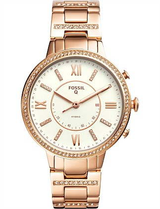 Q Virginia Rose Gold-Tone Hybrid Smartwatch