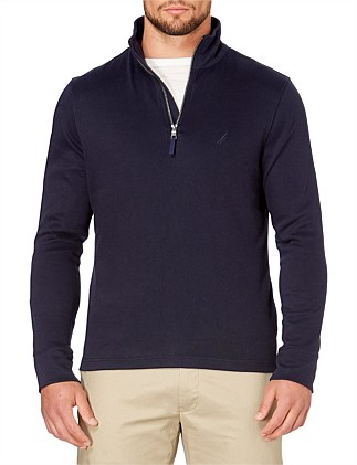 1/2 ZIP MOCK NK TRUE NAVY