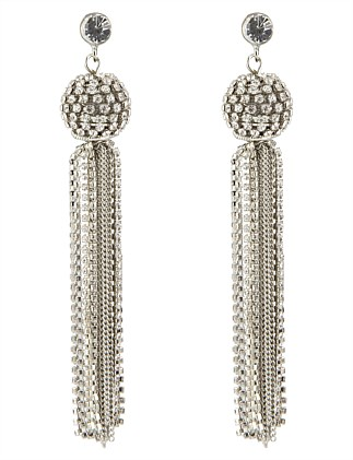 PAVE BALL DROP EARRING