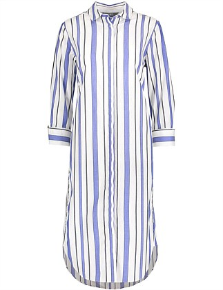 Striped Boyfriend Shirt Dress