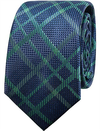 PLAID CHECK TIE