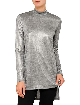 Textured Metallic Tunic