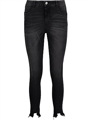 Frayed Flexible Skinny Jeans