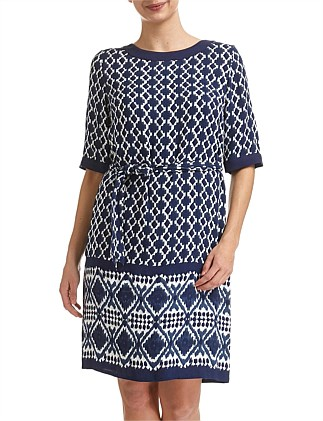 IKAT TIE WAIST DRESS