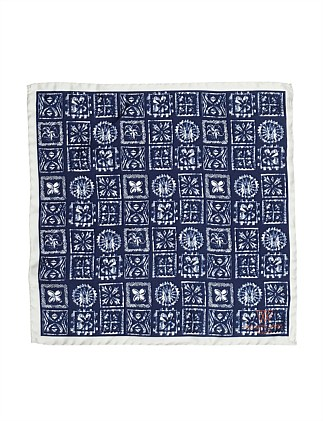 SILK POCKET HANK BATIK  PRINT