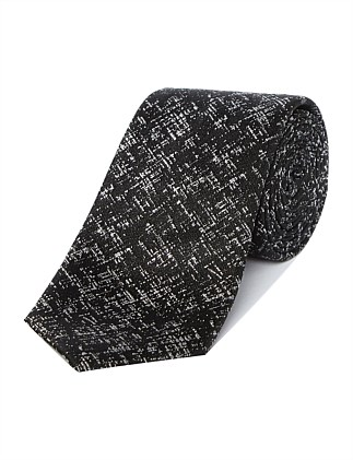 SILK TIE CRISS CROSS  PRINT