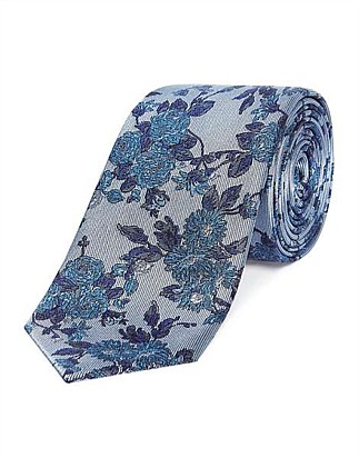 SILK TIE SOUTH WORLD  PRINT