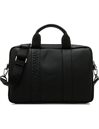 Embossed Stripe Briefcase