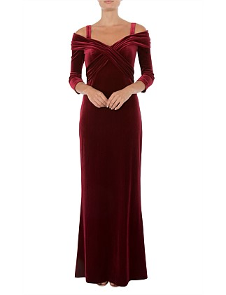 RUBY VELOUR GOWN