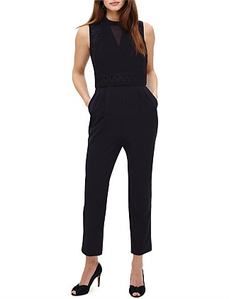 PEARL EMBROIDERED JUMPSUIT