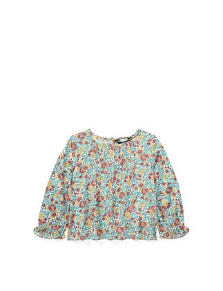 Pintucked Floral Top(2-7 Years)