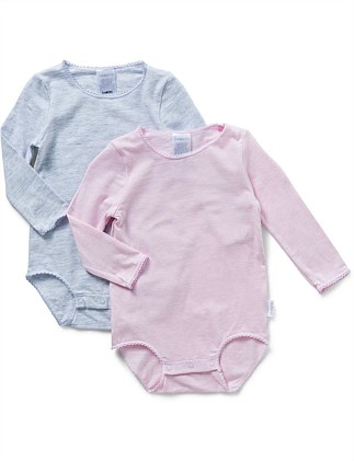 Newbies 2pk Long Sleeve Bodysuit (Premi-6months)