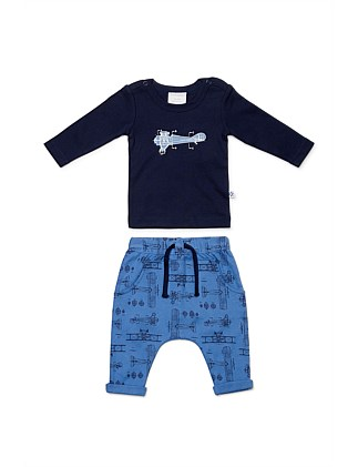 Blueprint Top with Pant (Newborn-1year)