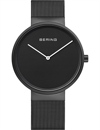 Bering Black Steel Watch